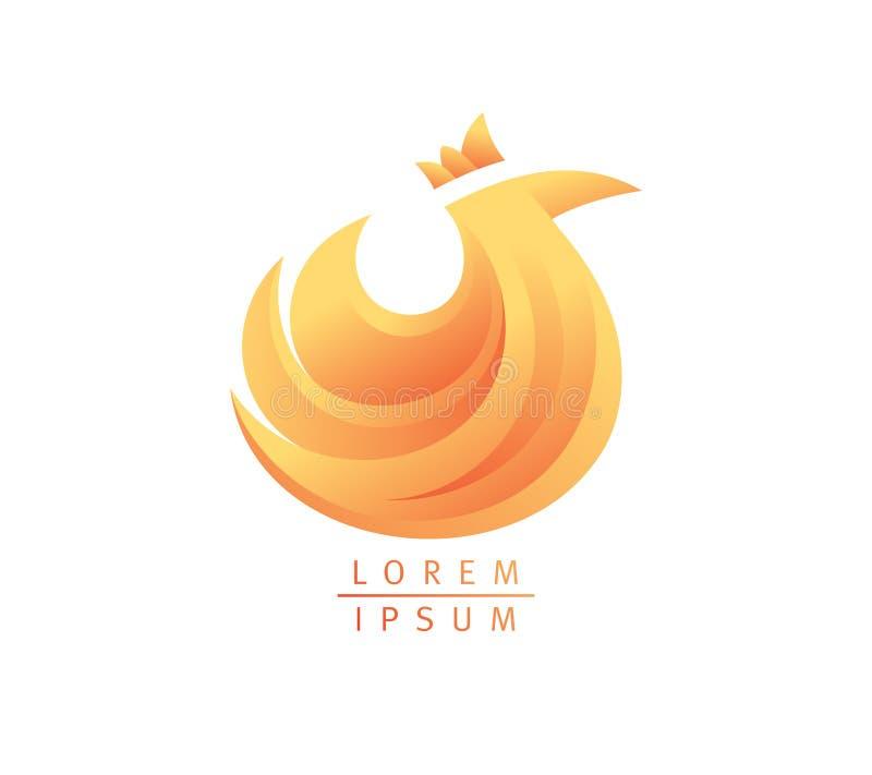 Het ontwerp van het kippenembleem, landbouwsymbool met kip royalty-vrije illustratie