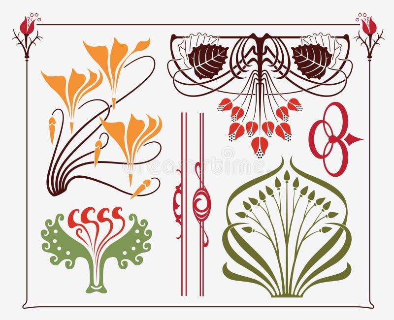 Het ontwerp van kunst-Nouveau vector illustratie