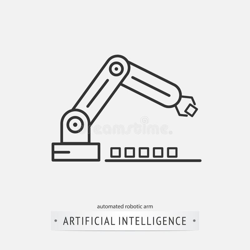 Het ontwerp van het kunstmatige intelligentiepictogram royalty-vrije illustratie