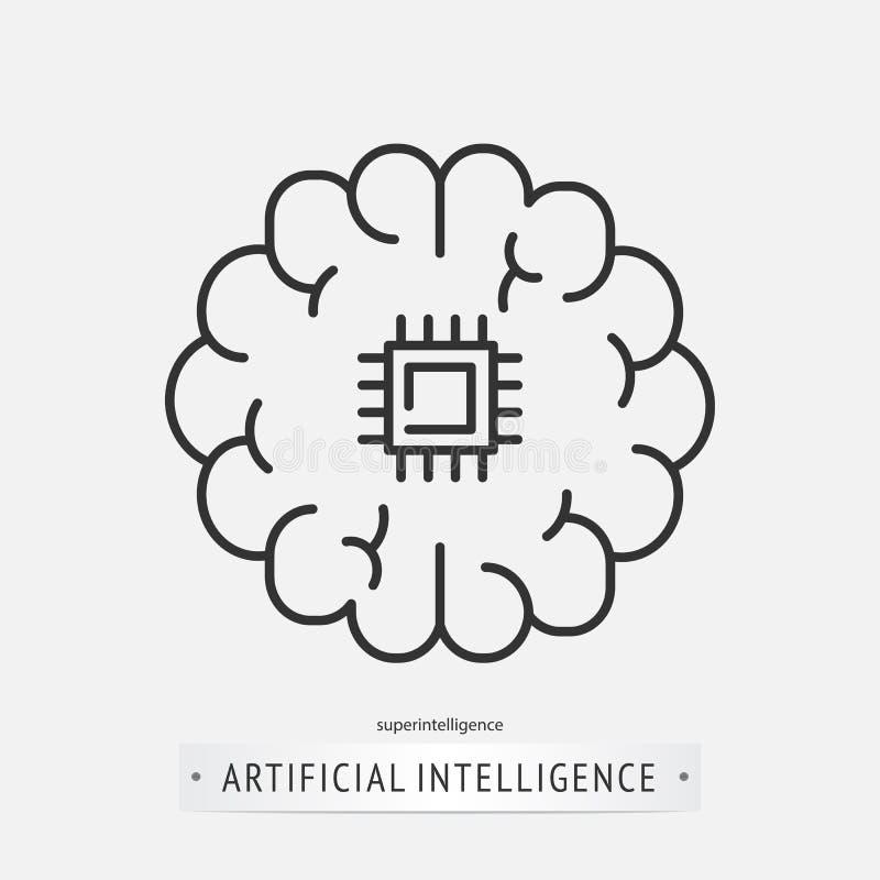 Het ontwerp van het kunstmatige intelligentiepictogram vector illustratie