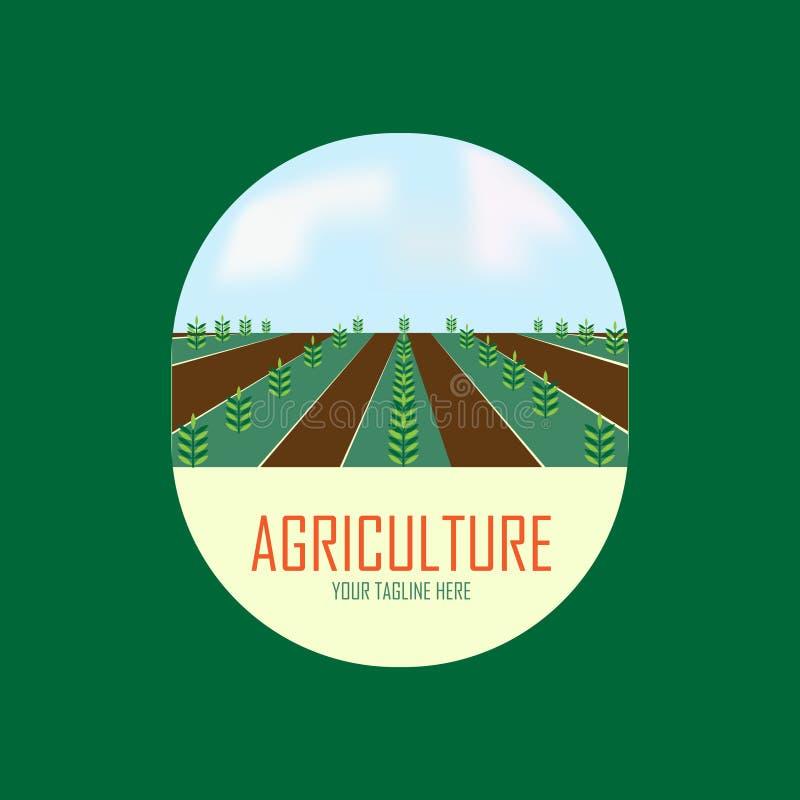 Het ontwerp van het landbouwembleem met boom vector illustratie