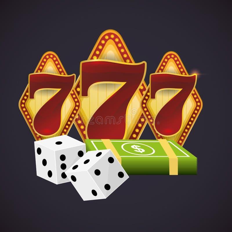 Het ontwerp van Las Vegas stock illustratie
