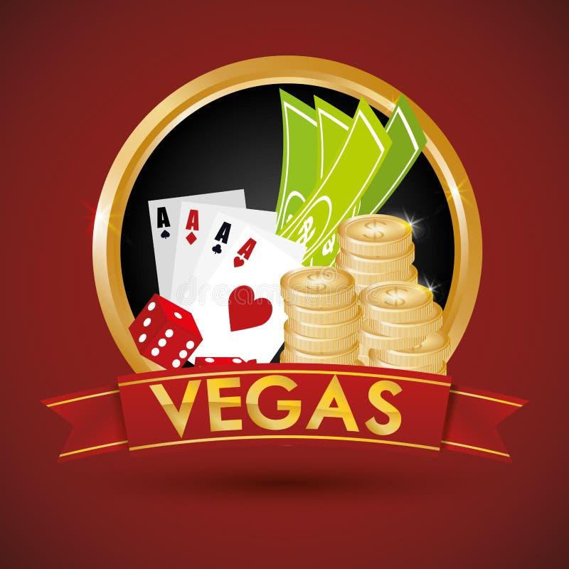 Het ontwerp van Las Vegas vector illustratie