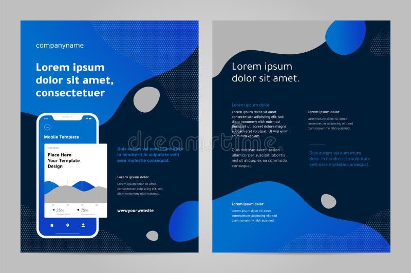 Het ontwerp van het lay-outmalplaatje met Mobiele toepassing vector illustratie