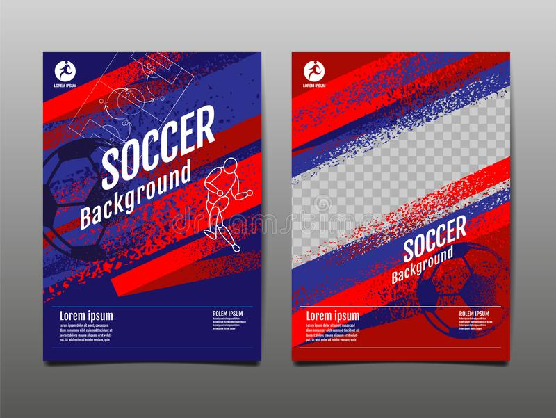 Het Ontwerp van het lay-outmalplaatje, Sportachtergrond, Dynamische Affiche, de Banner van de Borstelsnelheid, Vectorillustratie stock illustratie