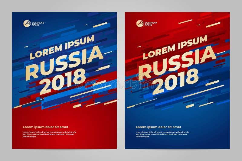 Het ontwerp van het lay-outmalplaatje voor sport royalty-vrije illustratie