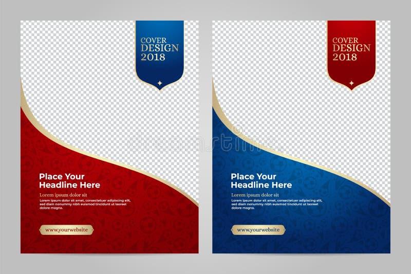 Het ontwerp van het lay-outmalplaatje voor sport vector illustratie