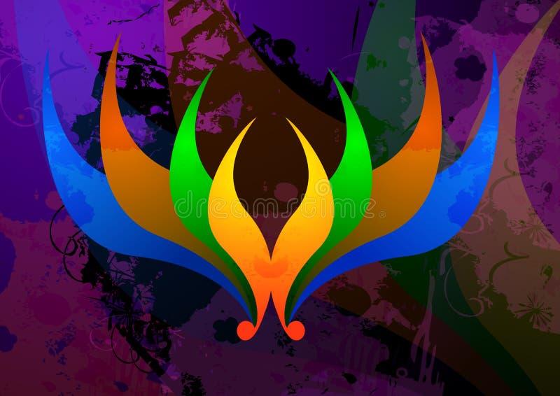 Het Ontwerp van Lotus stock illustratie