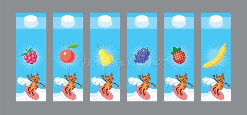 Het ontwerp van het melkpakket royalty-vrije stock foto