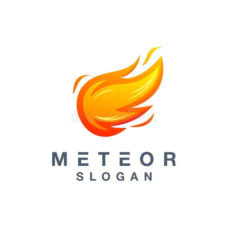 Het ontwerp van het meteoorembleem klaar om voor uw bedrijf te gebruiken vector illustratie