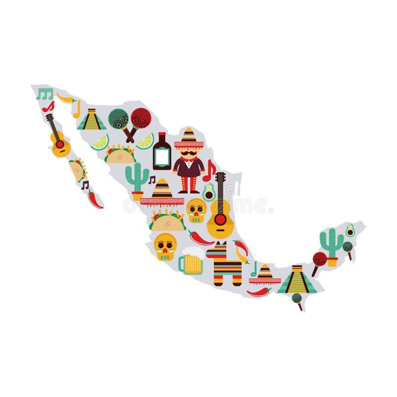 Het ontwerp van Mexico royalty-vrije illustratie