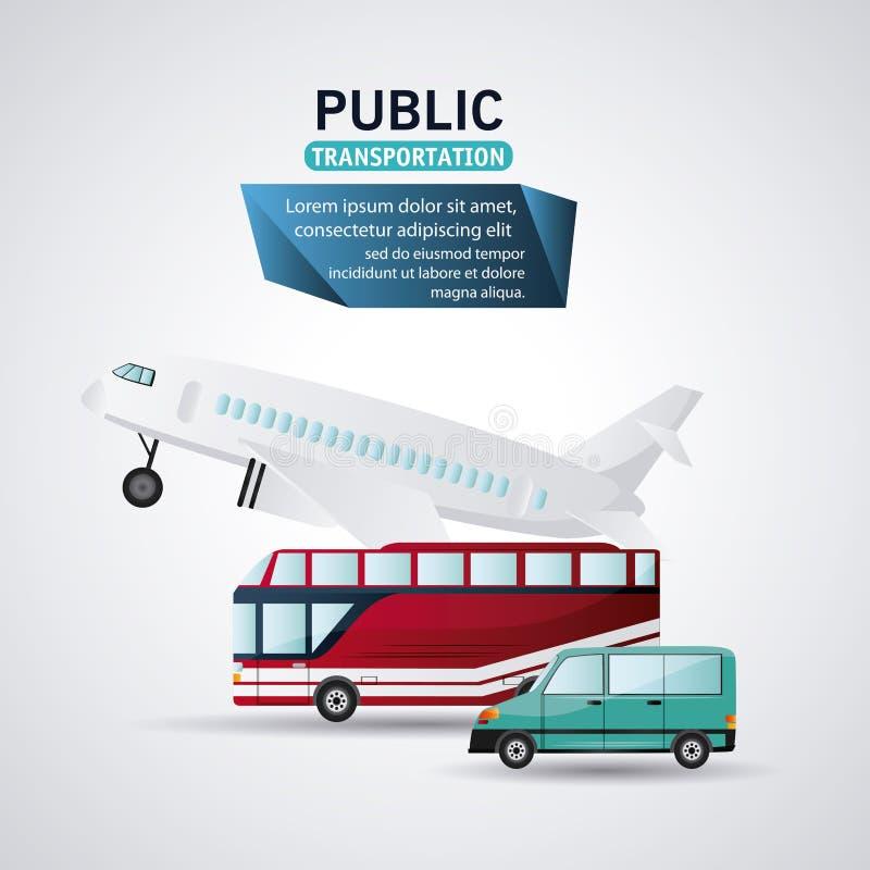 Het ontwerp van openbaar vervoervoertuigen royalty-vrije illustratie