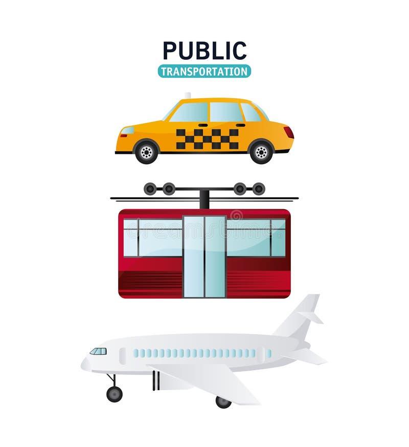 Het ontwerp van openbaar vervoervoertuigen vector illustratie