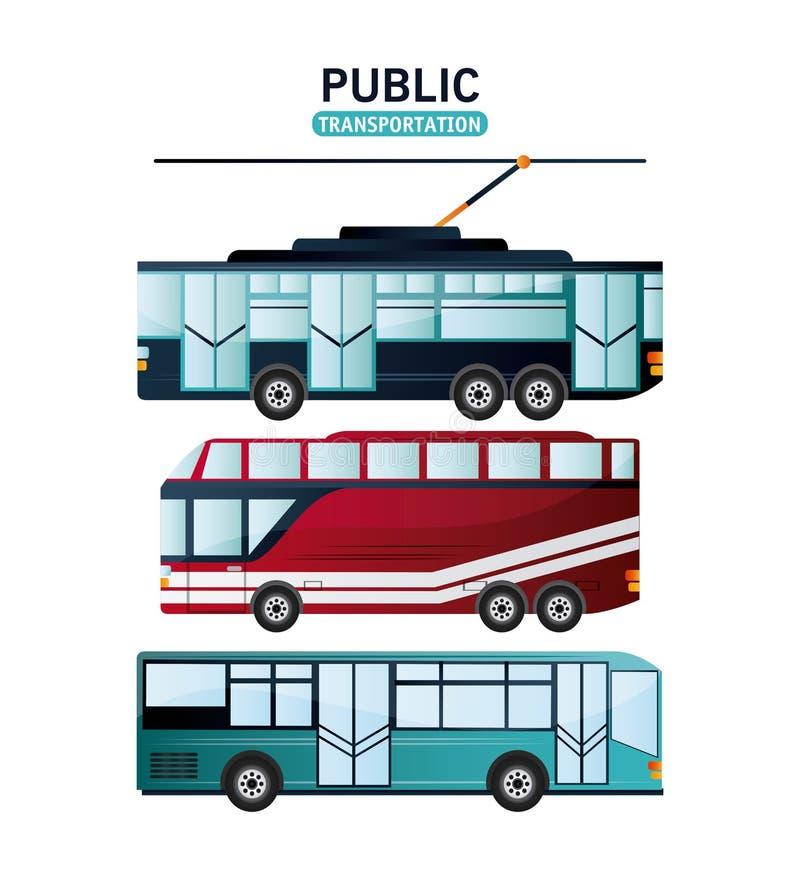Het ontwerp van openbaar vervoervoertuigen stock illustratie