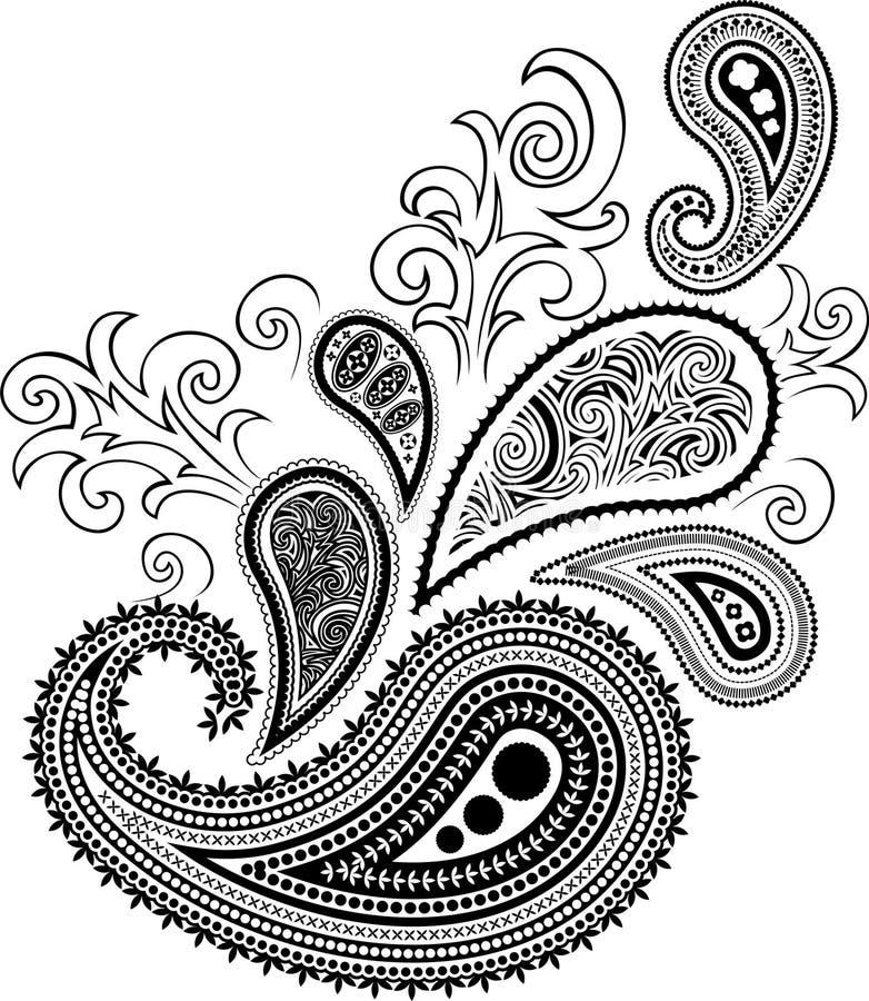 Het ontwerp van Paisley   stock illustratie