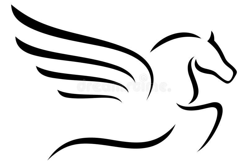Het ontwerp van het Pegasusoverzicht stock illustratie