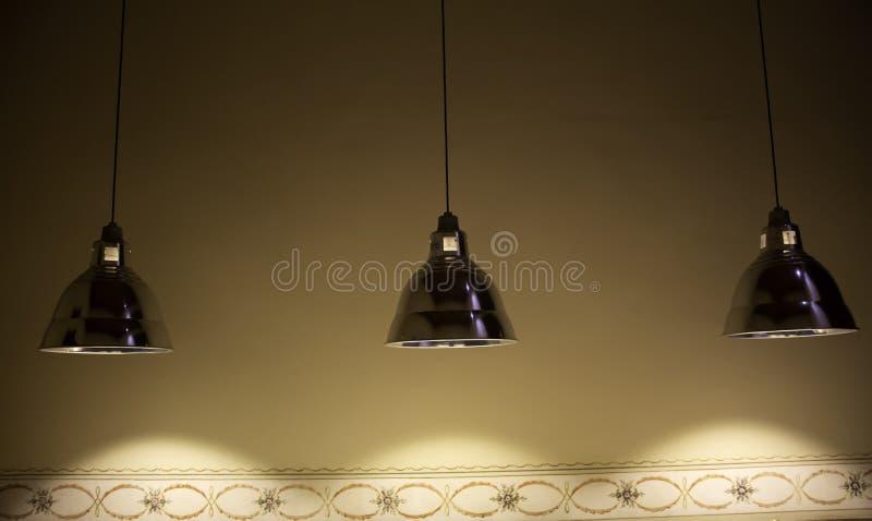 Het ontwerp van plafondlampen stock afbeelding