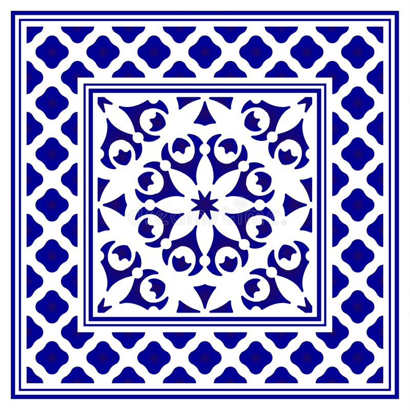 Het ontwerp van het porseleinkader vector illustratie