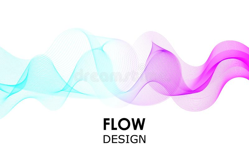 Het ontwerp van stroomvormen Vloeibare golfachtergrond Abstract 3d stroomontwerp stock illustratie