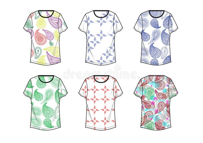 Het ontwerp van t-shirtkolka voor Man kledingsmalplaatje stock illustratie