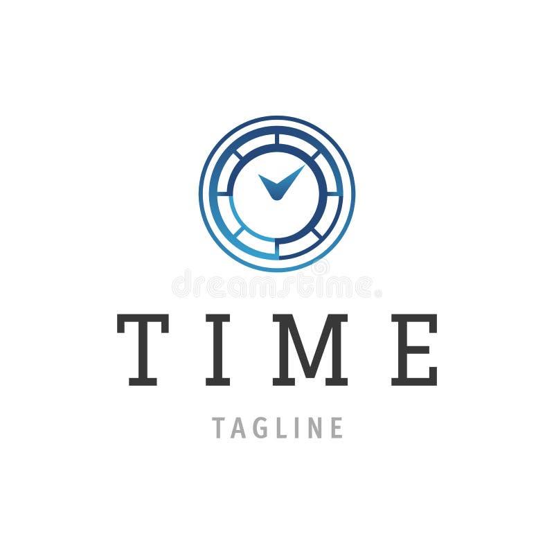 Het ontwerp van het tijdembleem Tijdconcept of klok bedrijfspictogram Creatief logotypemalplaatje vector illustratie