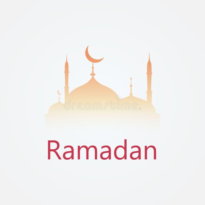 Het ontwerp van het vakantieembleem Ramadan Kareem stock illustratie