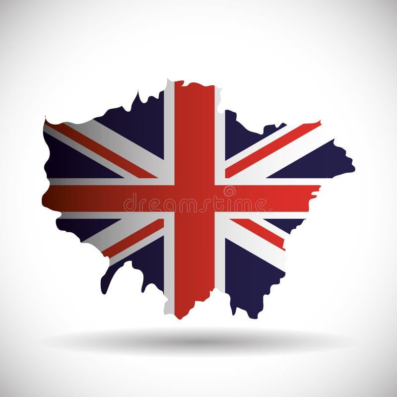 Het ontwerp van vlaglonden Engeland stock illustratie