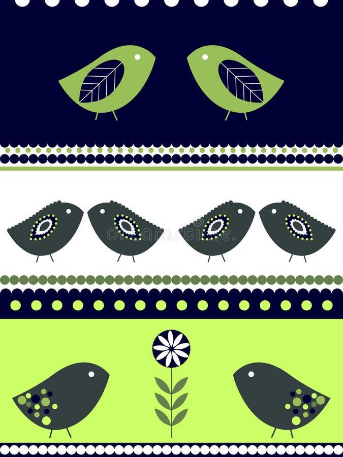 Het ontwerp van vogels royalty-vrije illustratie
