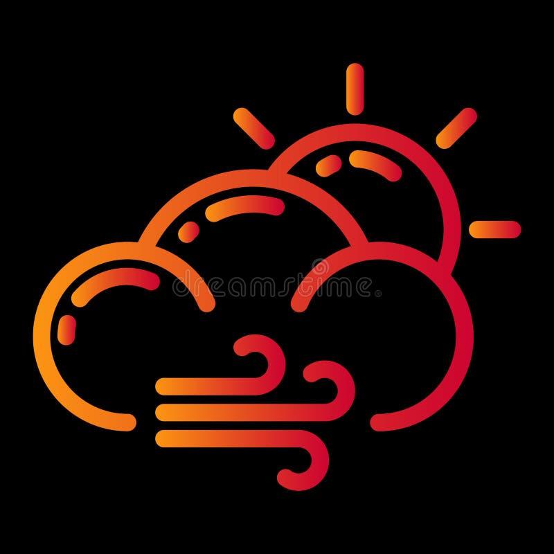 het ontwerp van het weerpictogram vector illustratie