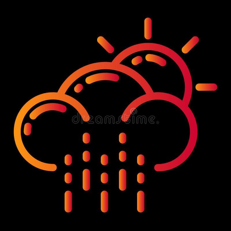 het ontwerp van het weerpictogram royalty-vrije illustratie