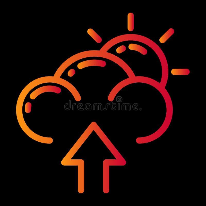 het ontwerp van het weerpictogram stock illustratie