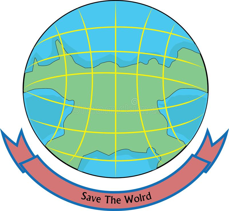 het ontwerp van het wereldembleem royalty-vrije illustratie