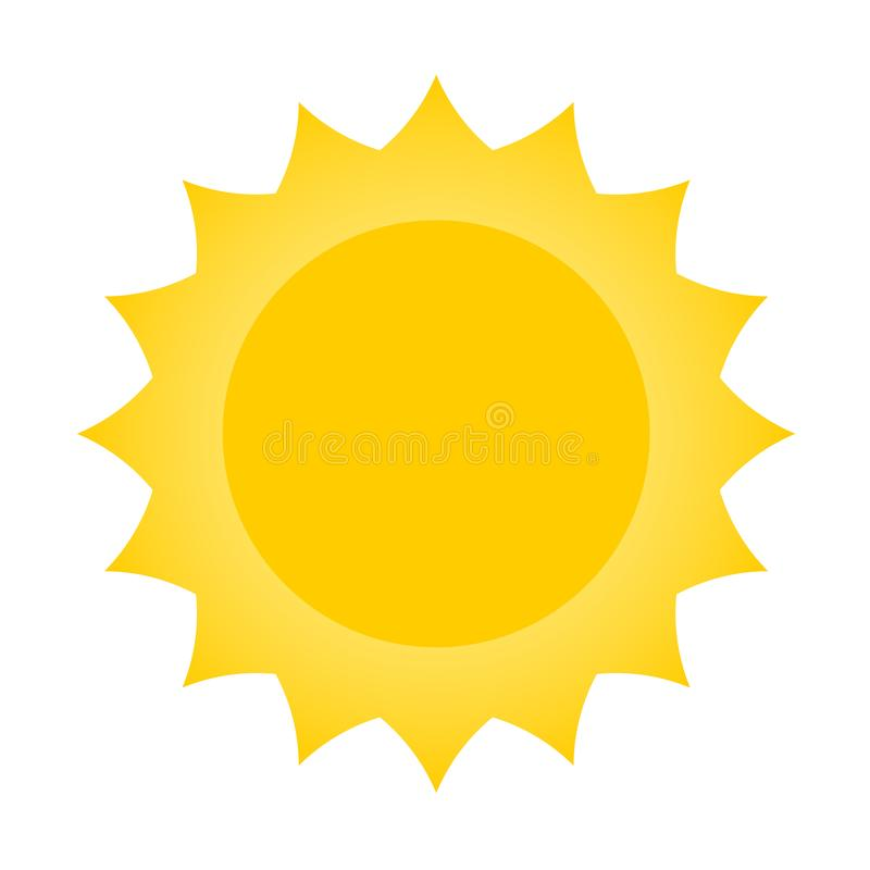 Het ontwerp van het zonpictogram stock illustratie