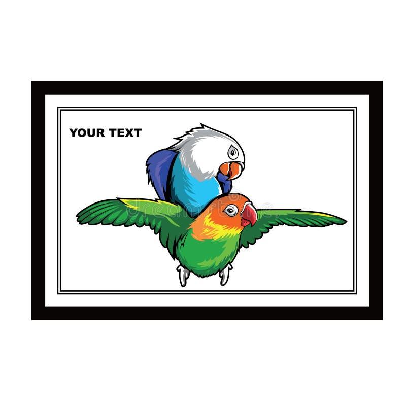 Het ontwerp vector grafisch art. van de liefdevogel stock illustratie
