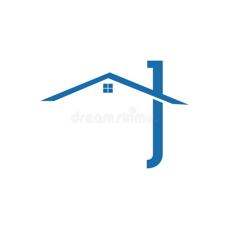 Het ontwerp vectorconcept en idee van het makelaardijembleem Het ontwerpmalplaatje van het onroerende goederenvectorembleem Huis  stock illustratie