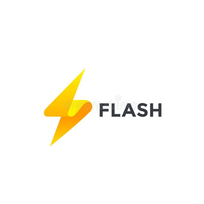 Het ontwerp vectormalplaatje van het flitsembleem Blikseminslagsymbool Concept van de snelheids creatieve Logotype van de energie royalty-vrije illustratie