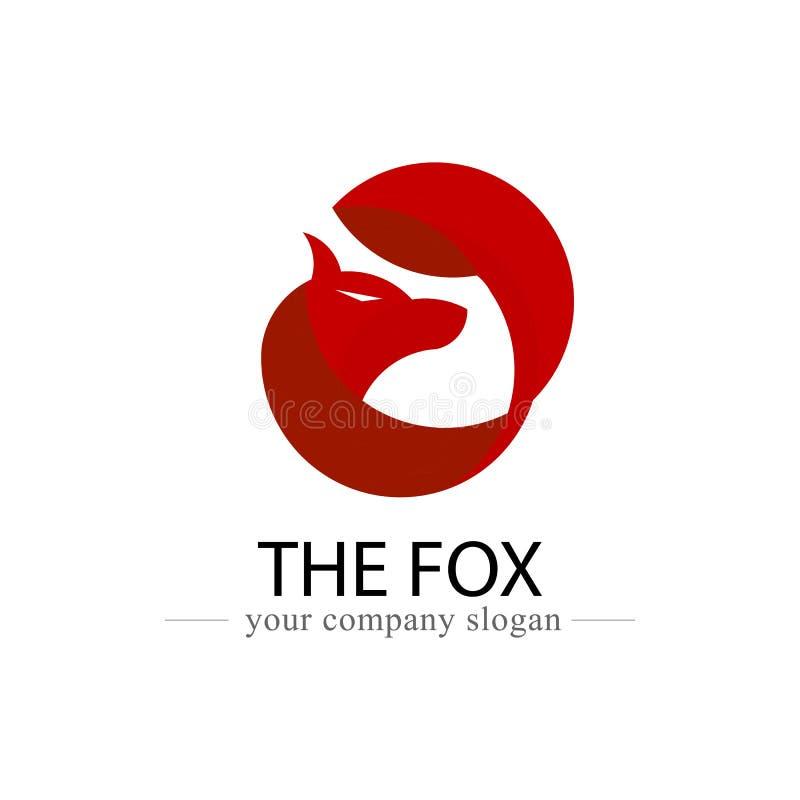Het ontwerp vectorpictogram van het vosembleem Dier en embleembanner voor bedrijf en organisatieconcept Vector grafische illustra royalty-vrije illustratie