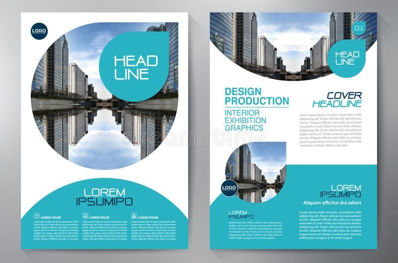 Het ontwerpa4 malplaatje van de bedrijfsbrochurevlieger royalty-vrije illustratie