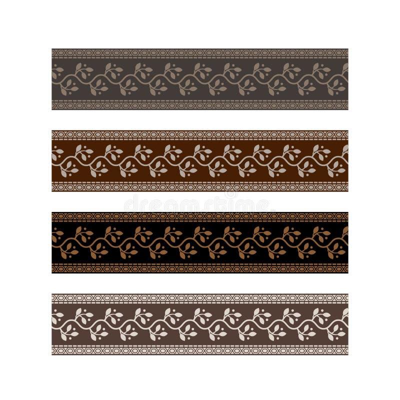 Het ontwerpband van het riempatroon met bladornament vector illustratie