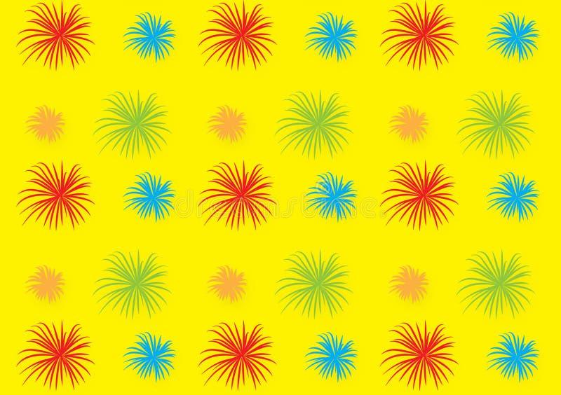 Het ontwerpbehang van het vuurwerkpatroon voor achtergronden stock illustratie