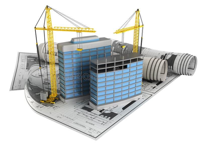 Het ontwerpconcept van de bouw royalty-vrije illustratie