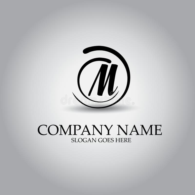 Het ontwerpconcept van het brievenm embleem stock illustratie