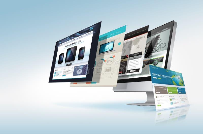 Het ontwerpconcept van het Web stock illustratie