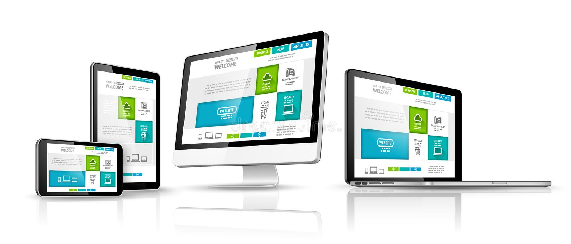 Het ontwerpconcept van het Web Vector stock illustratie