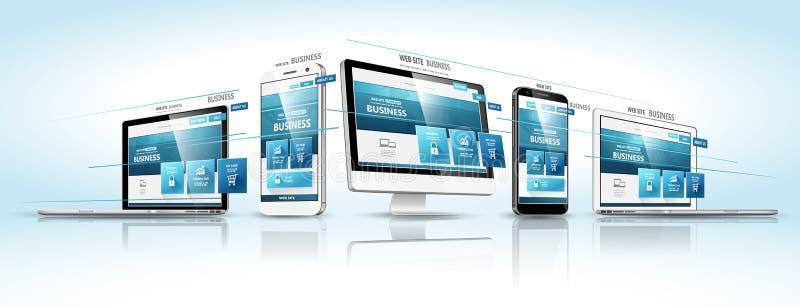 Het ontwerpconcept van het Web Vector