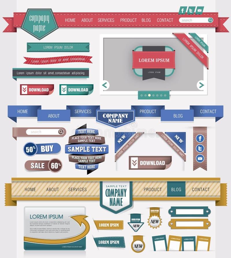 Het ontwerpelement van het Web
