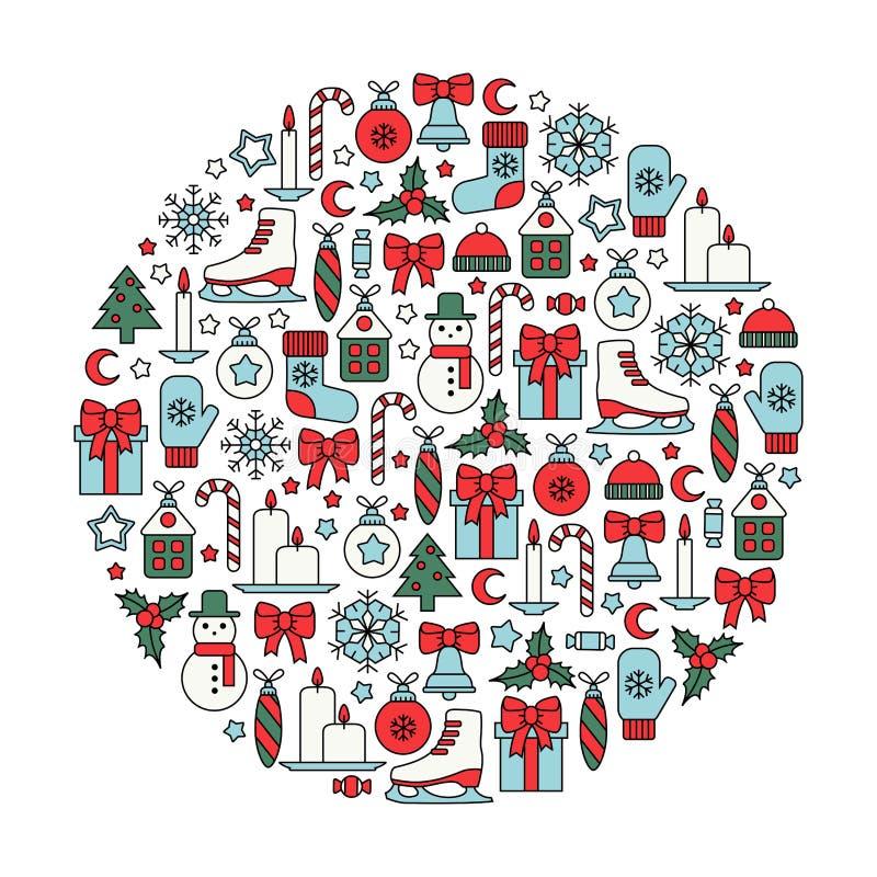 Het ontwerpelement van Kerstmis royalty-vrije illustratie