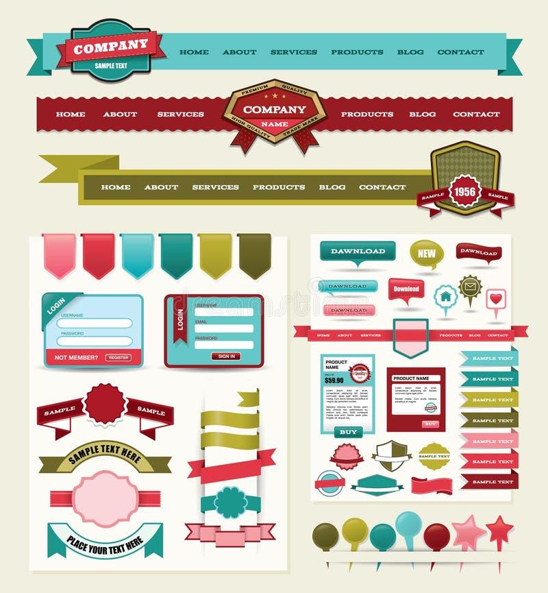 Het Ontwerpelementen Van De Website Stock Afbeeldingen
