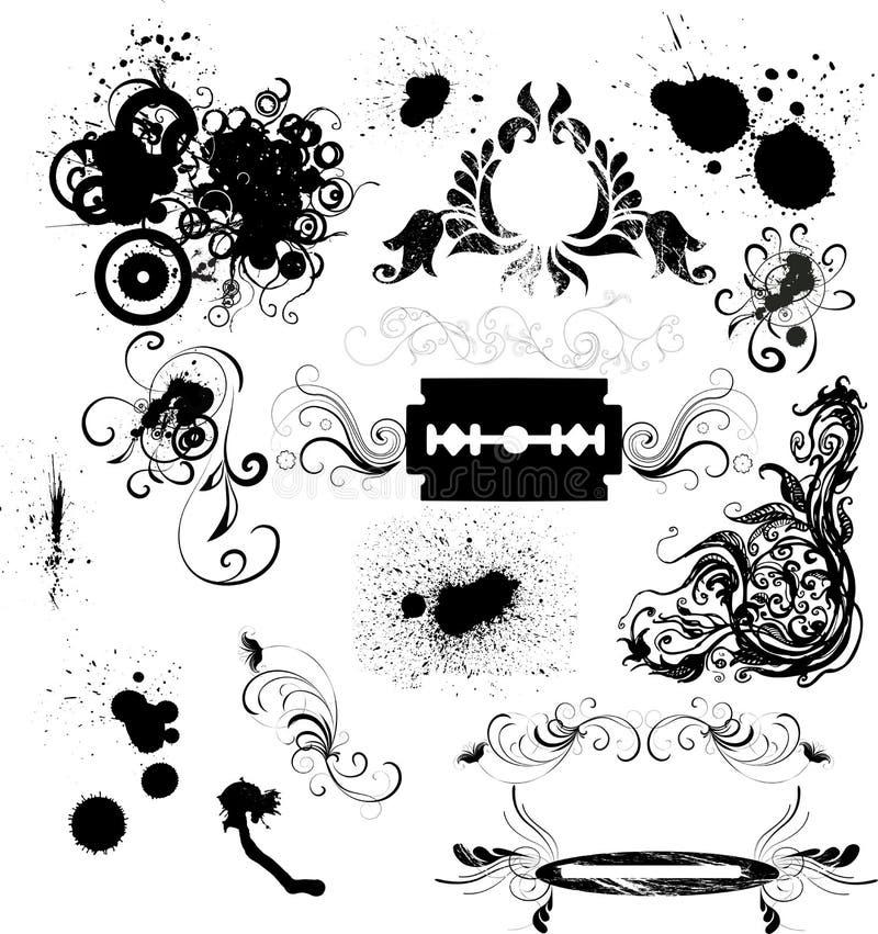 Het ontwerpelementen van Grunge royalty-vrije illustratie