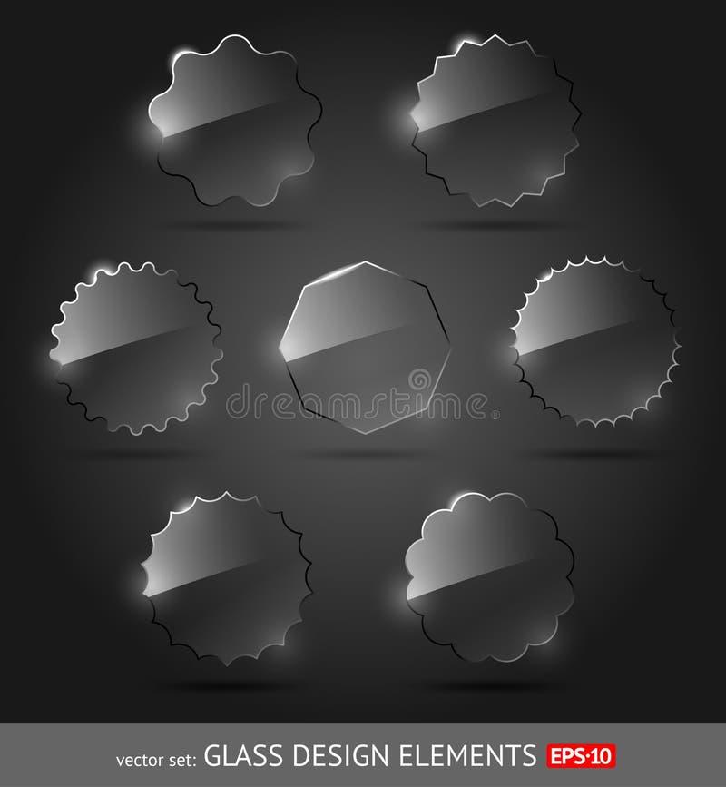 Het ontwerpelementen van het glas stock illustratie